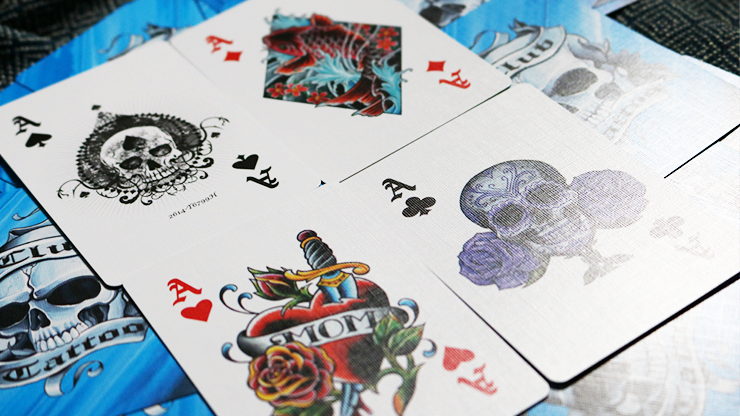 Tattoo Cards Blue J And B Magic Shop